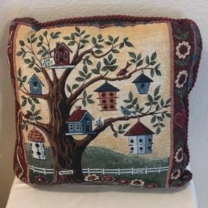 Decorative tapestry pillow